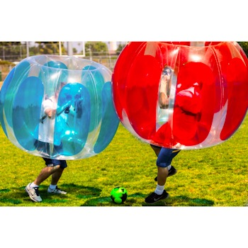 Kids Thunder Bubble Inflatable Soccer Suits